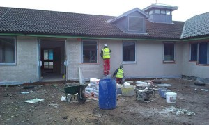Rendering project at hospital in Sutton Coldfield