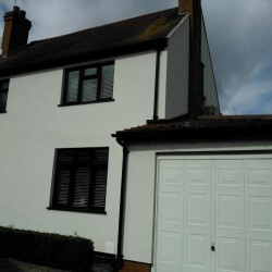 Completed external wall insulation